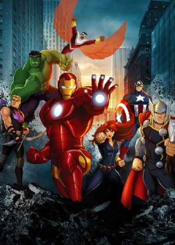 THE AVENGERS - COMIC SQUAD canvas print - self adhesive poster - photo print